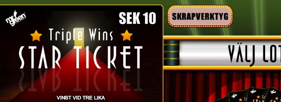 Triple Wins Star Ticket med chans att vinna €50 000